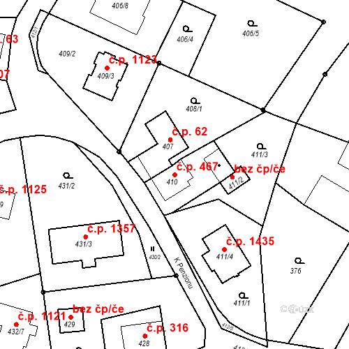 Katastrální mapa Stavební objekt Dolní Lutyně 467, Dolní Lutyně