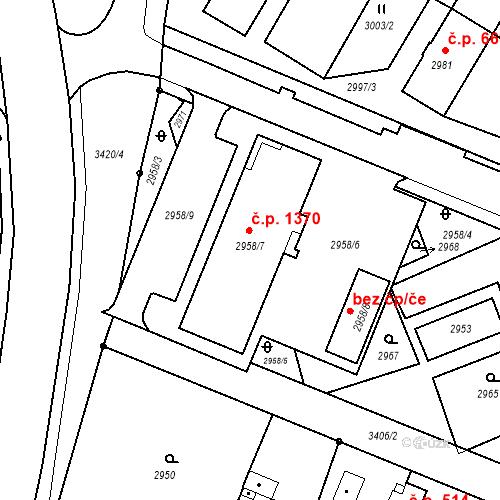 Katastrální mapa Stavební objekt Poruba 1370, Orlová