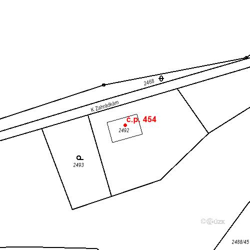 Katastrální mapa Stavební objekt Dolní Lutyně 454, Dolní Lutyně