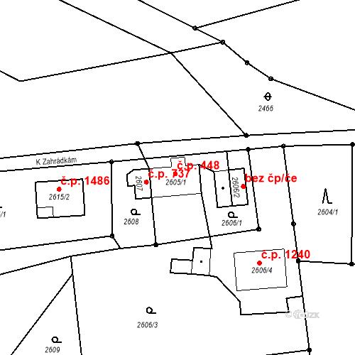 Katastrální mapa Stavební objekt Dolní Lutyně 448, Dolní Lutyně