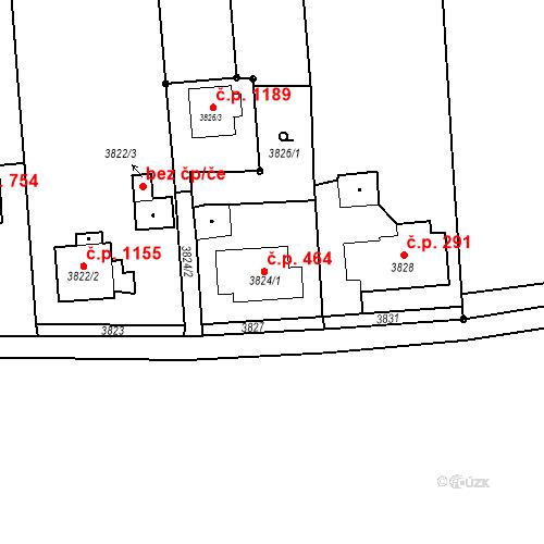 Katastrální mapa Stavební objekt Dolní Lutyně 464, Dolní Lutyně