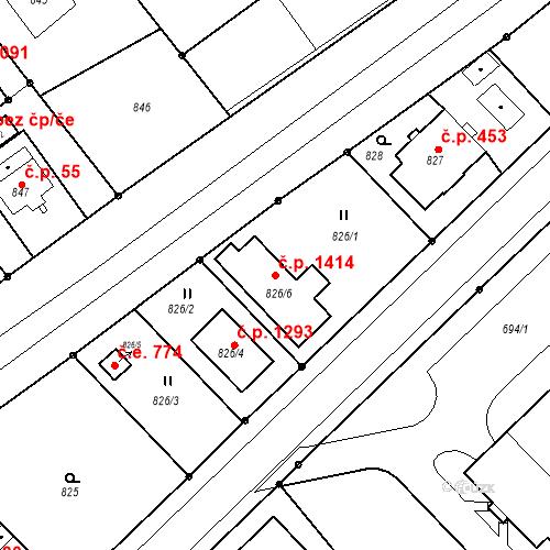 Katastrální mapa Stavební objekt Poruba 1414, Orlová
