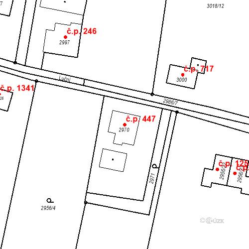 Katastrální mapa Stavební objekt Dolní Lutyně 447, Dolní Lutyně