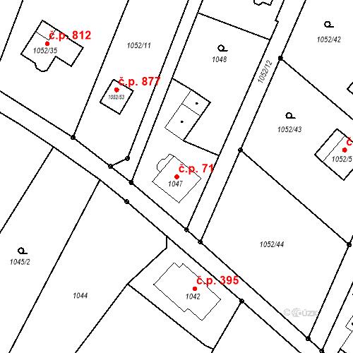 Katastrální mapa Stavební objekt Skřečoň 71, Bohumín