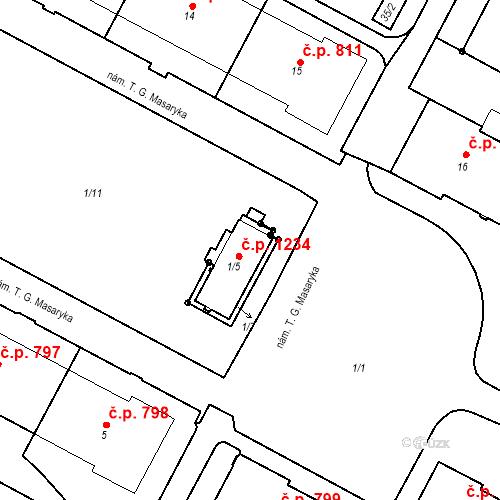 Katastrální mapa Stavební objekt Šumbark 1234, Havířov