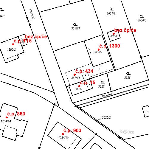 Katastrální mapa Stavební objekt Dolní Lutyně 434, Dolní Lutyně