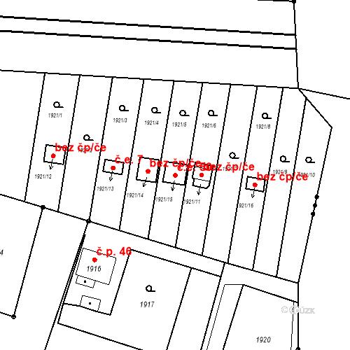 Katastrální mapa Stavební objekt Skřečoň 50, Bohumín