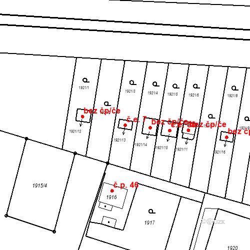 Katastrální mapa Stavební objekt Skřečoň 7, Bohumín