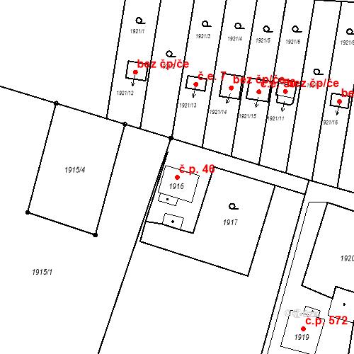 Katastrální mapa Stavební objekt Skřečoň 46, Bohumín