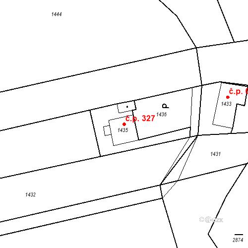 Katastrální mapa Stavební objekt Záblatí 327, Bohumín