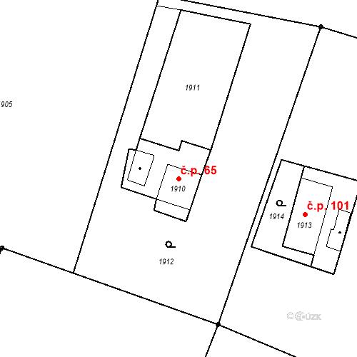 Katastrální mapa Stavební objekt Skřečoň 65, Bohumín