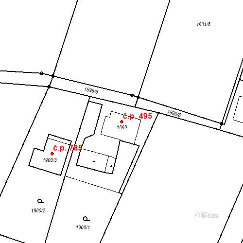 Katastrální mapa Stavební objekt Skřečoň 495, Bohumín