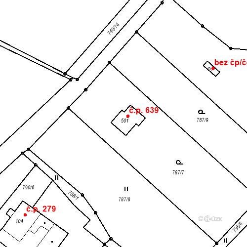 Katastrální mapa Stavební objekt Horní Bludovice 639, Horní Bludovice