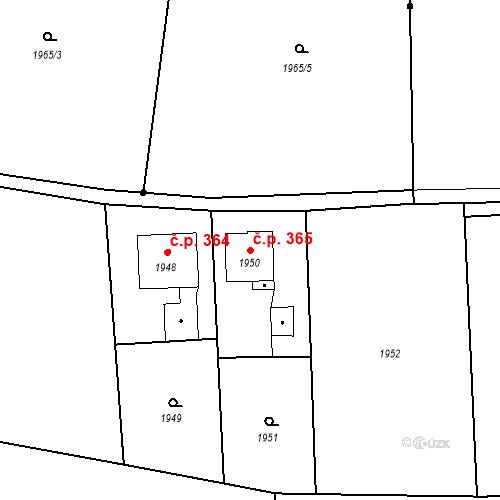 Katastrální mapa Stavební objekt Skřečoň 365, Bohumín