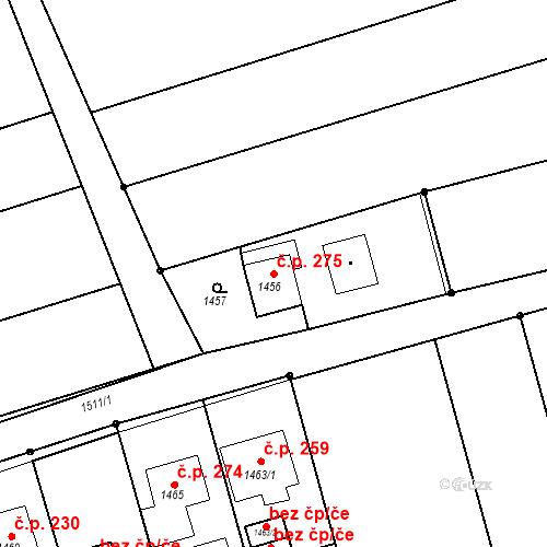 Katastrální mapa Stavební objekt Záblatí 275, Bohumín