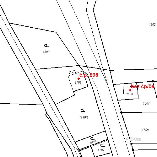Katastrální mapa Stavební objekt Skřečoň 298, Bohumín