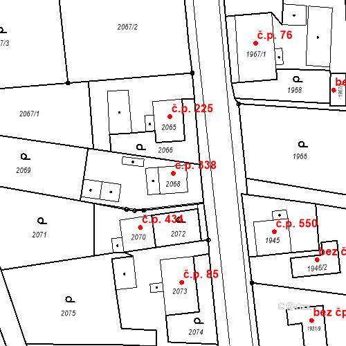Katastrální mapa Stavební objekt Skřečoň 338, Bohumín