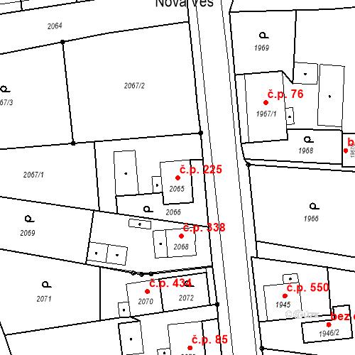 Katastrální mapa Stavební objekt Skřečoň 225, Bohumín
