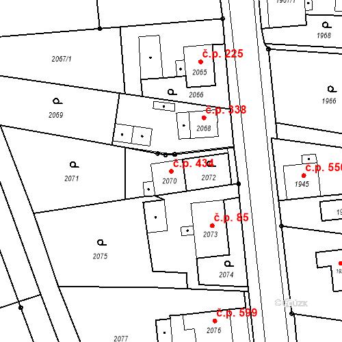 Katastrální mapa Stavební objekt Skřečoň 434, Bohumín