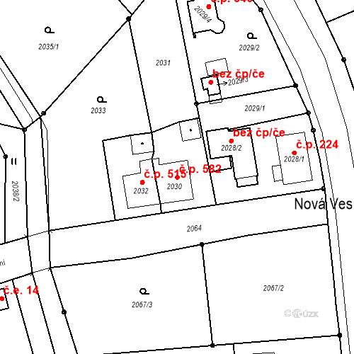 Katastrální mapa Stavební objekt Skřečoň 582, Bohumín