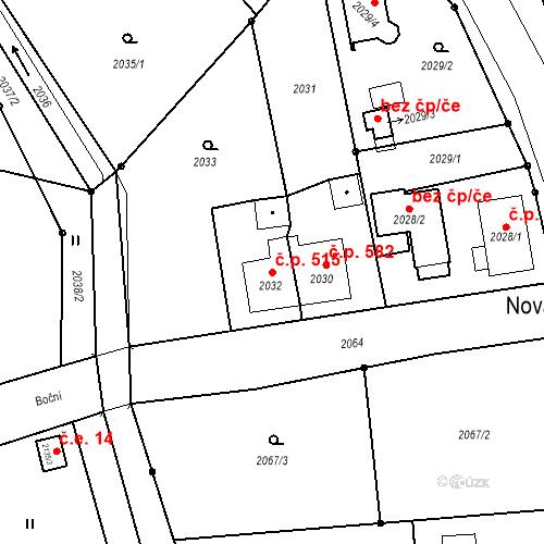 Katastrální mapa Stavební objekt Skřečoň 515, Bohumín