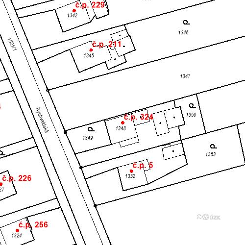 Katastrální mapa Stavební objekt Záblatí 324, Bohumín