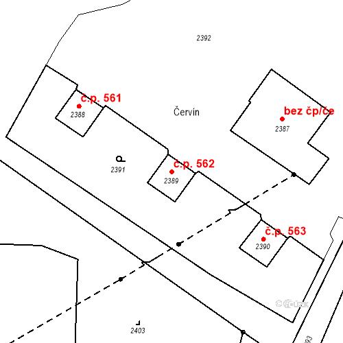 Katastrální mapa Stavební objekt Skřečoň 562, Bohumín