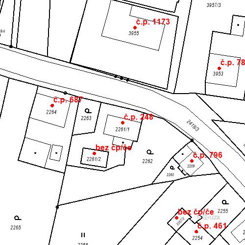 Katastrální mapa Stavební objekt Skřečoň 248, Bohumín