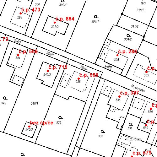 Katastrální mapa Stavební objekt Skřečoň 566, Bohumín