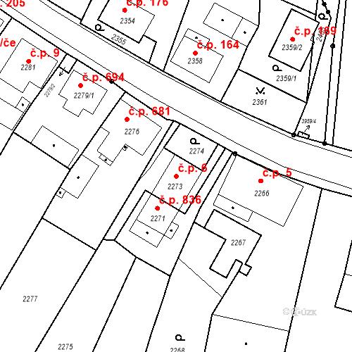 Katastrální mapa Stavební objekt Skřečoň 6, Bohumín