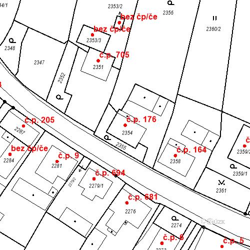 Katastrální mapa Stavební objekt Skřečoň 176, Bohumín