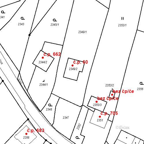 Katastrální mapa Stavební objekt Skřečoň 60, Bohumín