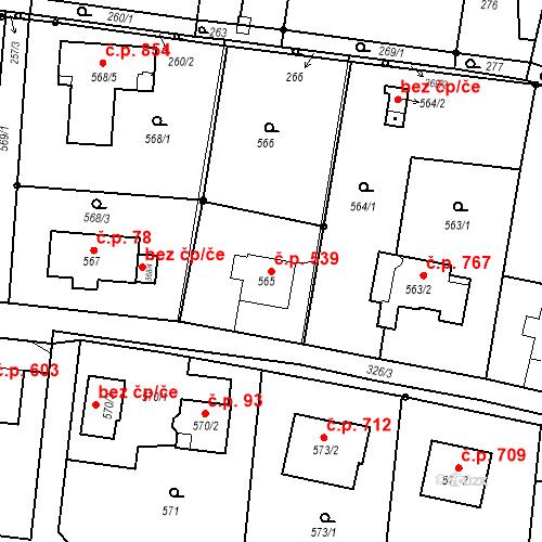 Katastrální mapa Stavební objekt Skřečoň 539, Bohumín