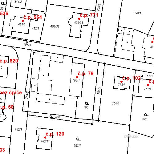 Katastrální mapa Stavební objekt Skřečoň 79, Bohumín