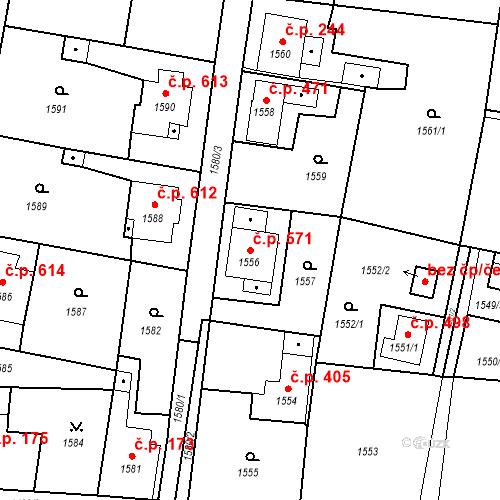 Katastrální mapa Stavební objekt Skřečoň 571, Bohumín