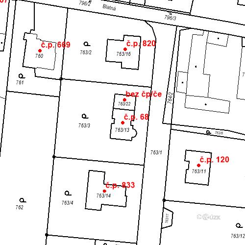 Katastrální mapa Stavební objekt Skřečoň 68, Bohumín