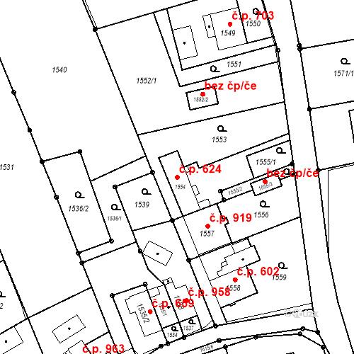 Katastrální mapa Stavební objekt Petřvald 624, Petřvald
