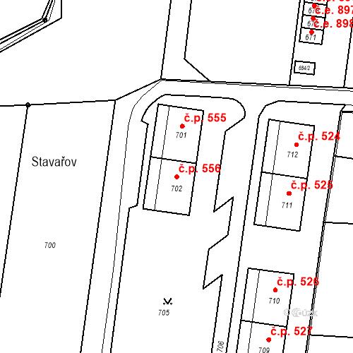 Katastrální mapa Stavební objekt Skřečoň 556, Bohumín