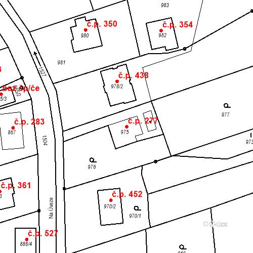 Katastrální mapa Stavební objekt Záblatí 277, Bohumín