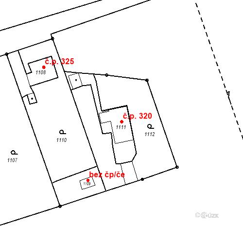 Katastrální mapa Stavební objekt Záblatí 320, Bohumín