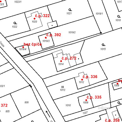 Katastrální mapa Stavební objekt Záblatí 272, Bohumín