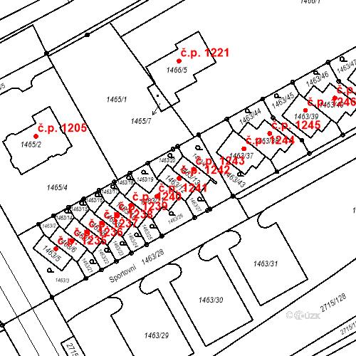 Katastrální mapa Stavební objekt Nový Bohumín 1242, Bohumín