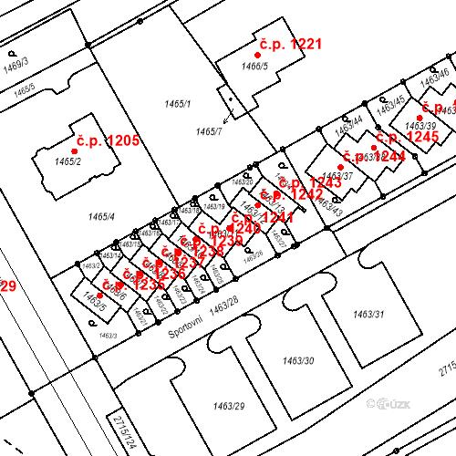 Katastrální mapa Stavební objekt Nový Bohumín 1241, Bohumín