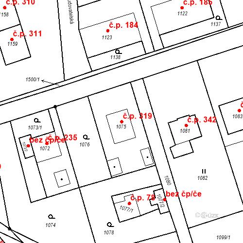 Katastrální mapa Stavební objekt Záblatí 319, Bohumín