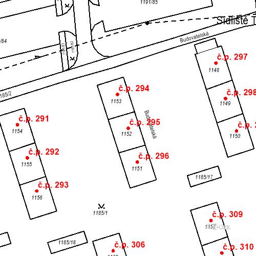 Katastrální mapa Stavební objekt Záblatí 295, Bohumín