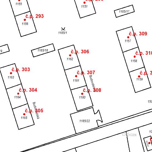 Katastrální mapa Stavební objekt Záblatí 307, Bohumín
