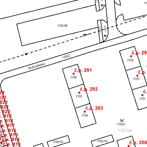Katastrální mapa Stavební objekt Záblatí 291, Bohumín
