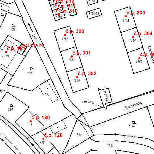 Katastrální mapa Stavební objekt Záblatí 302, Bohumín