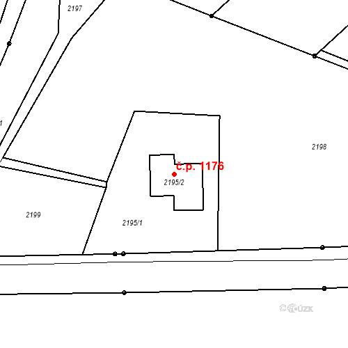 Katastrální mapa Stavební objekt Šunychl 1176, Bohumín