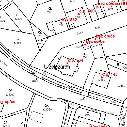 Katastrální mapa Stavební objekt Nový Bohumín 534, Bohumín